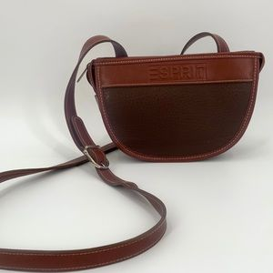 VTG ESPRIT crossbody Purse Brown Adjustable Strap